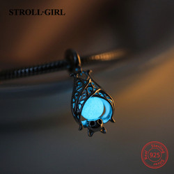 StrollGirl Silver 925 bat growing charms pendant beads Fit original European Bracelet diy fashion Jewelry making for women gift