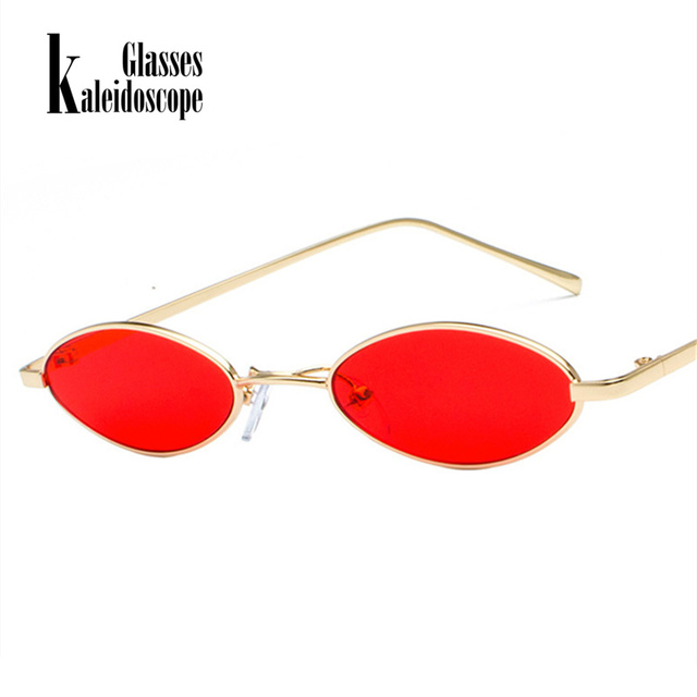 457f0426dfc07 Kaleidoscope Glasses Women Small Oval Sunglasses Men Round Transparent Red  Lens Sun glasses Retro Cat Eye