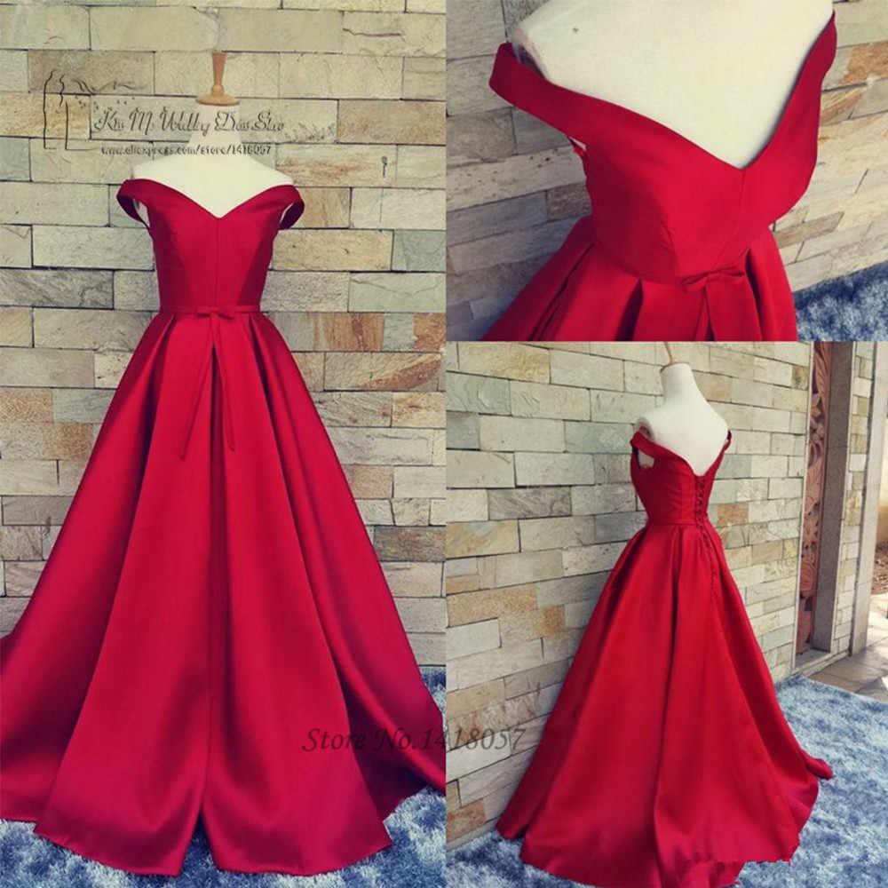 Vestidos De Graduación Rojos Vintage Baratos De Talla Grande De Satén Largo Vestido De Graduación Vestidos De Gala Envío Rápido Vestidos Formales De