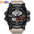 Mens sports watches dual display watch Fashion brand Electronic quartz watches male analog digital LED 50M waterproof wristwatch