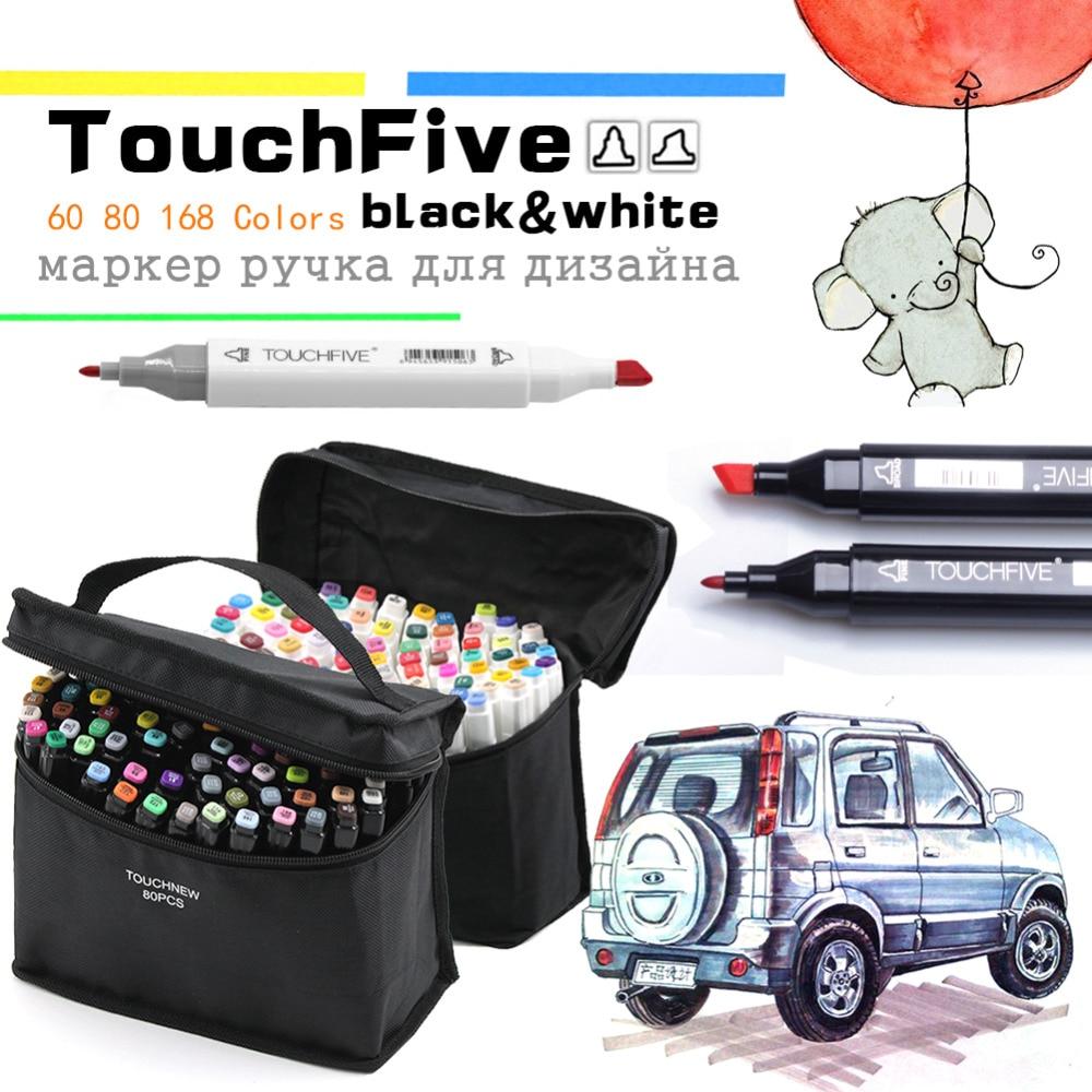 Animation Design graphique cartographie Art marqueurs Touchfive 30/40/60/80/168 couleurs stylo marqueur Set croquis dessin marqueur Art stylos