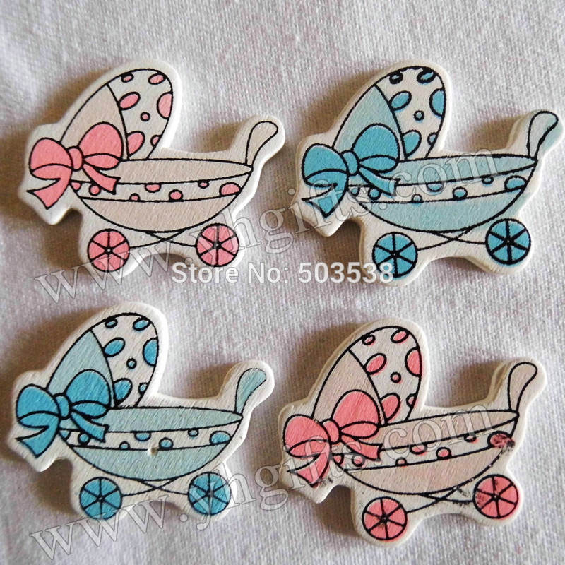 200PCS/LOT,Baby cradle have bowknot wood stickers,3x3.5cm.Kids toys,scrapbooking kit,Early educational DIY.Kindergarten crafts.