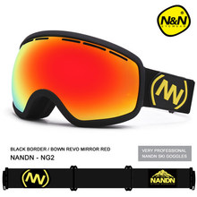 Shipping free shortsightedness adultbrand ski goggles double UV400 anti fog big ski mask glasses skiing snow