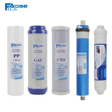 5 stage RO replacement filter kit  10 PP+GAC+CTO+ RO membrane+ T33 Filter ro la