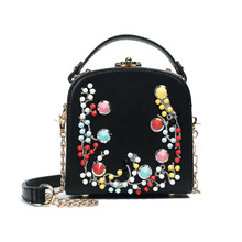 Hot Colorful Rivet Small Flap Shoulder Crossbody Bags Ladies Clutch Hand Bags High Quality Women Messenger Bags embroidery totes