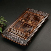 Chinese Solid Wooden Tea Accessories Drinkware Tea Tray Tea Kung Fu Tea Set Table Drawer Type