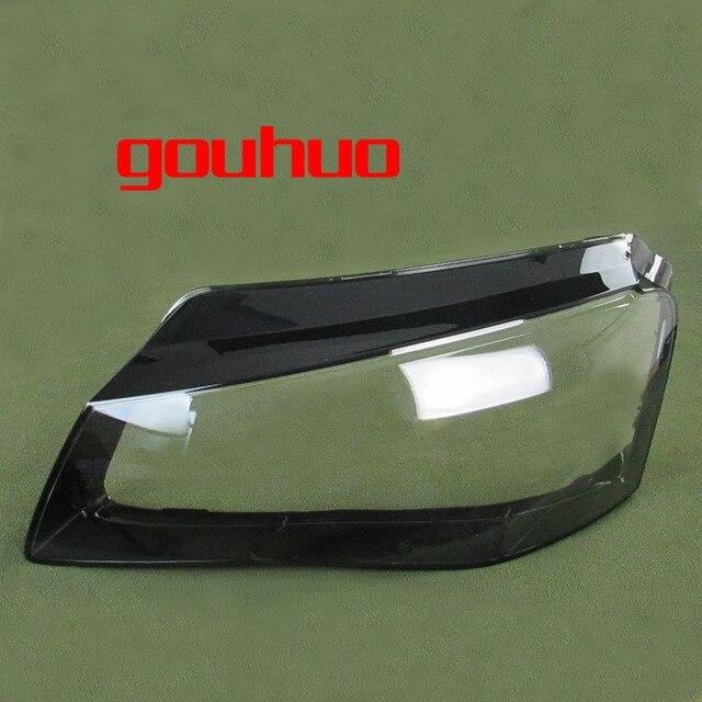 لأودي A8 11 13 الجبهة العلوي الظل العلوي شفافة الظل العلوي قذيفة عاكس الضوء كشافات غطاء قذيفة الزجاج