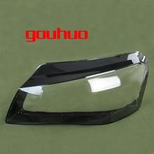 Para Audi A8 11 13 frontal de la pantalla del faro de la linterna de la sombra transparente de la pantalla de la lámpara de cabeza cubierta de cristal de la cáscara