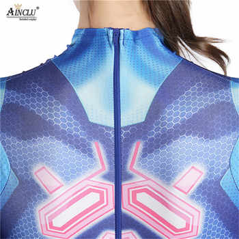 เซ็กซี่ผู้หญิง Samus Aran เกมเครื่องแต่งกาย Zentai Catsuit บอดี้สูทผู้ใหญ่เด็ก Super Hero ฮาโลวีน 3D พิมพ์ชุดคอสเพลย์ Jumpsuits
