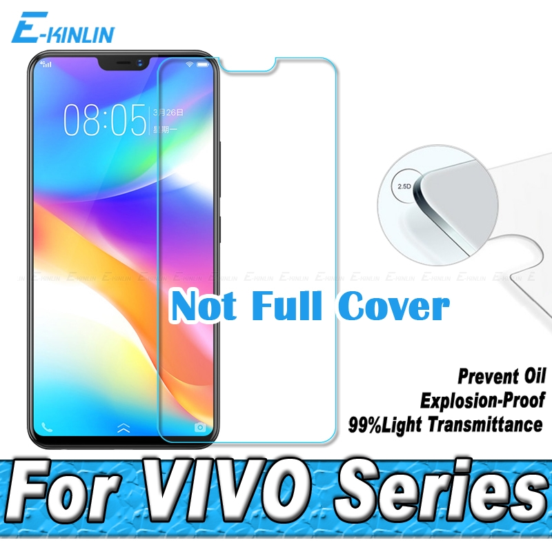 0.26mm 2.5D Tempered Glass Screen Protector Protective Film For BBK VIVO Y95 Y93 Y91 Y85 Y83 Y81 Y71 Y65 Y53 Y53i