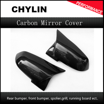 For BMW M-Style Carbon Mirror Cover For BMW F20 F21 F22 F23 F30 F31 F32 F33 F36 Carbon Fiber Rear View Mirror Cover Replacement