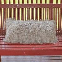 2016 Genuine Mongolian lamb pillow Cover Tibetan Fur Cushion Cover 12'X36 Decoraitve Cushion Covers For Sofa Chair Cushions