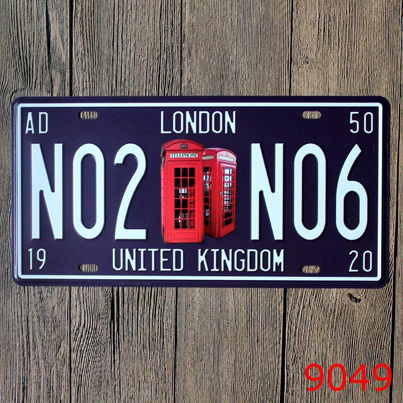 30x15cm London No2 Vintage Home Decor Tin Sign For Arto Store Wall Decor Metal Sign Vintage