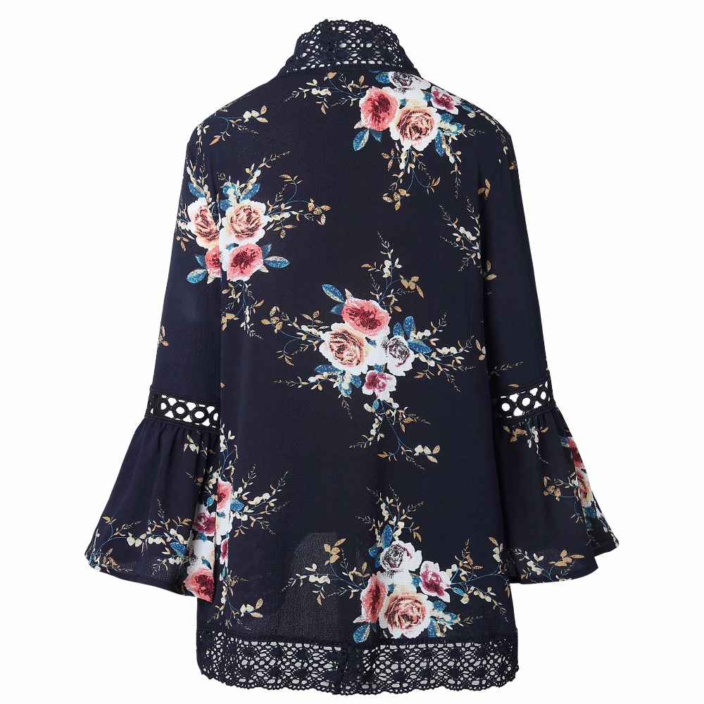 HTB1WwRUjcuYBuNkSmRyq6AA3pXap Autumn 2019 Boho Women Jacket Lace Flare Long Sleeve Slim Casual Open Stitch Tops Fashion Women Clothes Spring Shirt Coat Jacket