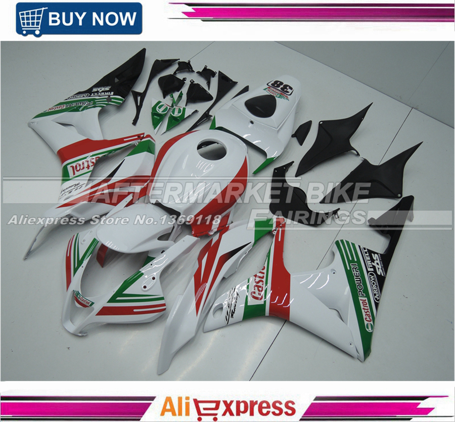 Motorcycle Fairing Kit for HONDA CBR600RR F5 07 08 CBR 600RR 2007 2008 CBR600 CASTROL Fairings abs injection fairings kit for honda 600 rr f5 fairing set 07 08 cbr600rr cbr 600rr 2007 2008 castrol motorcycle bodywork part