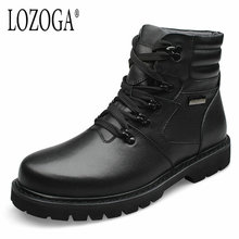 Men Boot Big Size For Winter Snow Boots 2017 New Mens Casual Shoes Genuine Leather Boots Lace-Up Boots Handmade Luxury Quality