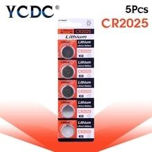 5 шт./упак. CR2025 аккумулятора кнопочного типа DL2025 BR2025 KCR2025 ячейки литий Батарея 3V CR 2025 для мобильного часо-Электронная игрушка пульт дистанционного управления