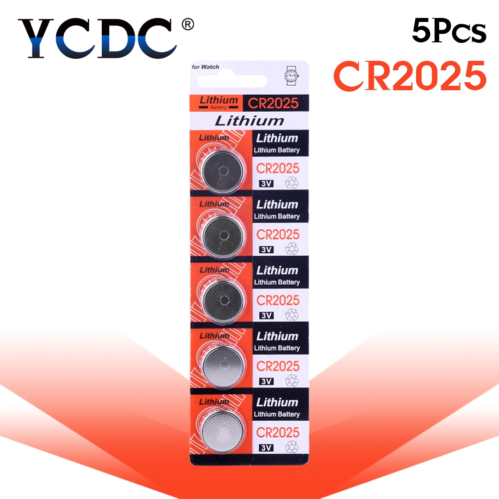 цена на 5pcs/pack CR2025 Button Batteries DL2025 BR2025 KCR2025 Cell Coin Lithium Battery 3V CR 2025 For Watch Electronic Toy Remote
