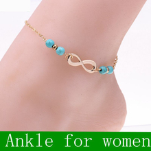 New Ankle Bracelet Summer Style Stones Beads Chain On Foot Anklet Jewelry Bracelet On A Leg Anklets For Women Cheville