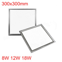 LED panel light square 300x300mm 8W 12W 18W high bright led indoor ceiling lamp Light Round Ultra thin LED downlight +led driver