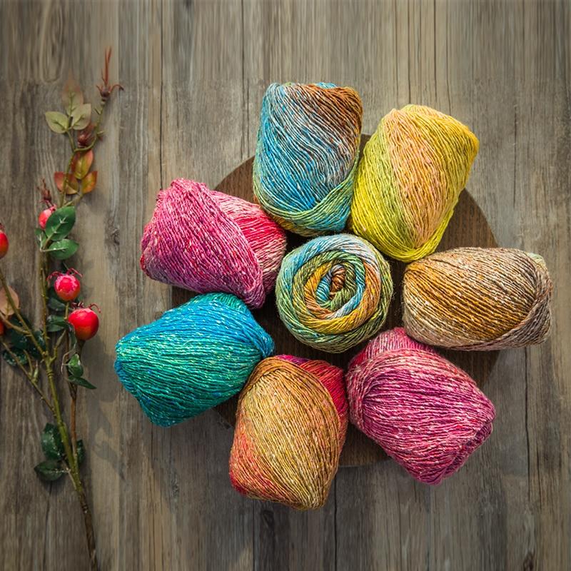 200g/lot 2019 High Quality Space Dye Yarn For Knitting  Fancy Yarn Crochet Thread For Scarf Nice Colors Handwork Crafts S3038