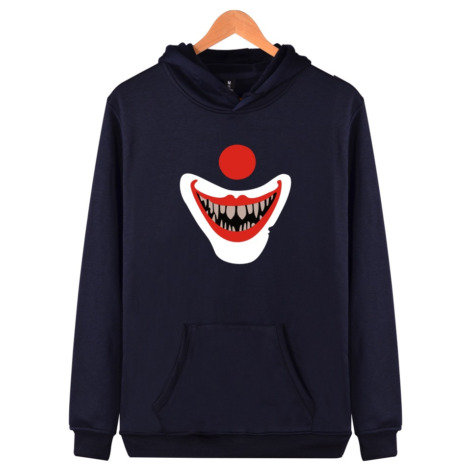 Movie It Hoodie Pennywise Clown Stephen King 1990 Demented Clowns Shtick Horror Movie Hoodie Sweatshirt Cosplay Tracksuit Xxs Hoodies & Sweatshirts