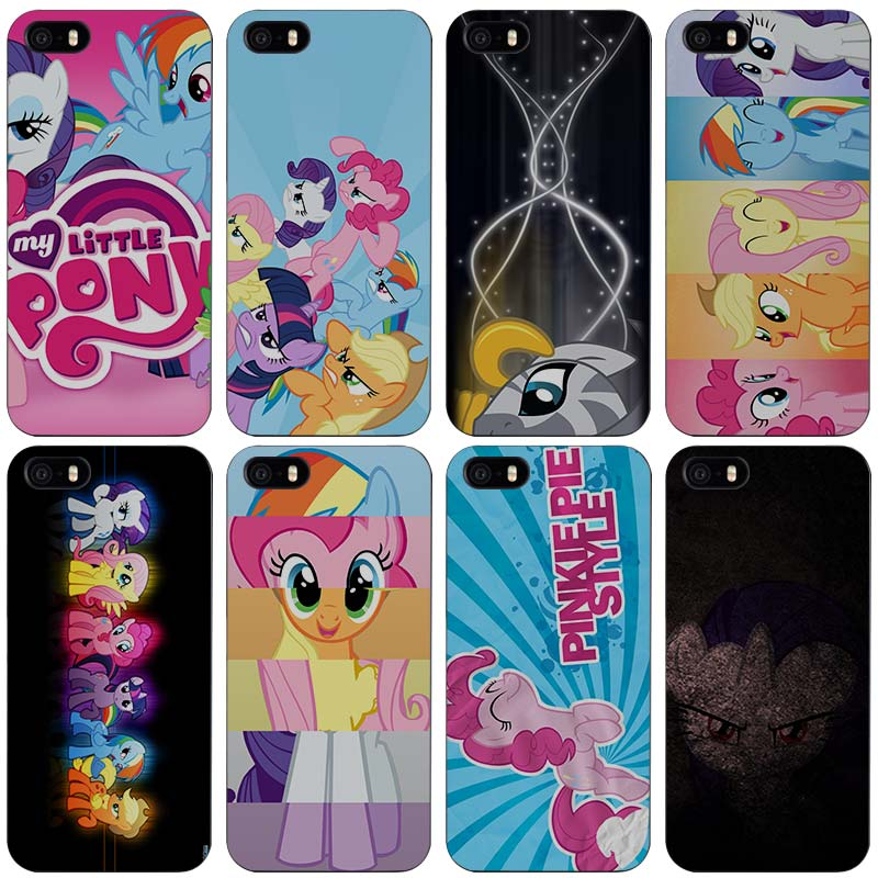 25cd606ae4f6 My Little Pony Black Plastic Case Cover Shell for iPhone Apple 4 4s 5 5s SE