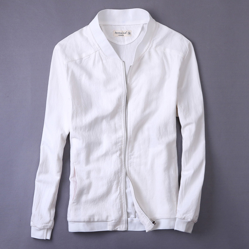 2017 New Fashion Brand Jacket Men Clothes Slim Fit Cotton Linen Casual Mens Jackets And Coats M-XXL Y004