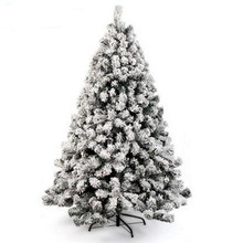 ФОТО 1.5m / 150cm sticky white snow flocking christmas tree hanging sticky ornament holy motel shopping mall home decoration