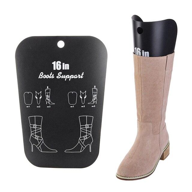 1 Pair Black Boot Stand Holder Women Knee High Boot Inserts Plastic  Supporter Storage Closet Shoe