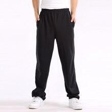 Мужские мешковатые штаны 7XL, мужские брюки, одноцветные эластичные хлопковые повседневные штаны очень большого размера плюс 5XL 6XL 7XL, красные, синие, черные, серые