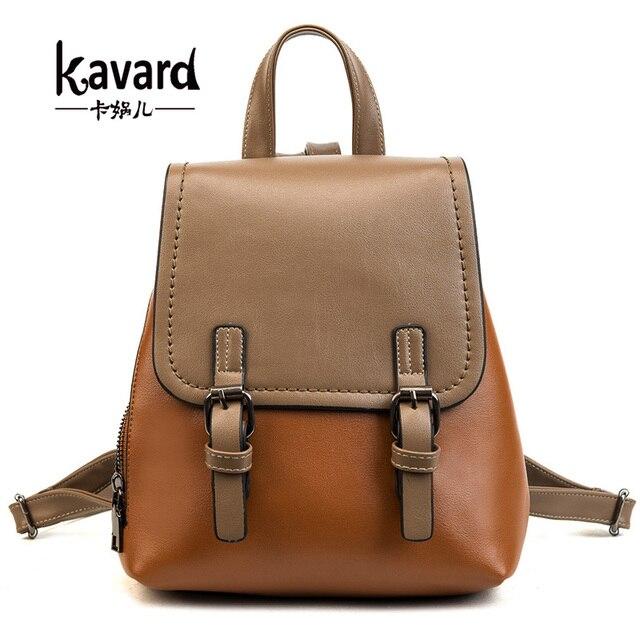 2975b95ba3 Kavard femmes Pu cuir sacs à Dos femme sacs d'école pour filles  adolescentes petit