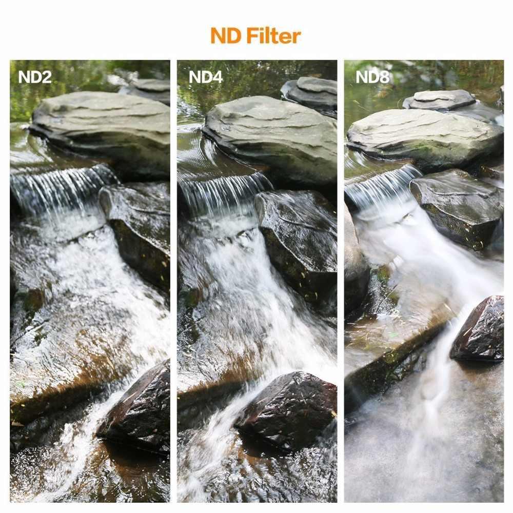 77mm conjunto de filtros slim nd2 nd4 nd8 con paquete de memoria para DSLR objetiva