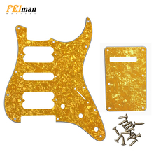 Pleroo Guitar parts st pickguards For fender Classic player Stratocaster HSH Electric guitar Scratch Plate with back plate