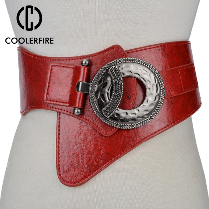 Hot Fashion Women Wide Waist Elastic Stretch   Belt   women's girdlestrap   belts   for women cinturon mujer cummerbund strap LB029