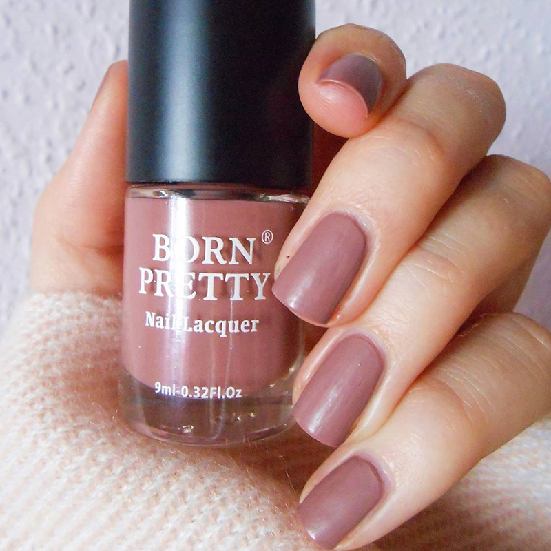 BORN PRETTY Matte Dull Nail Polish 9ml Frosted Surface Manicure Fast ...