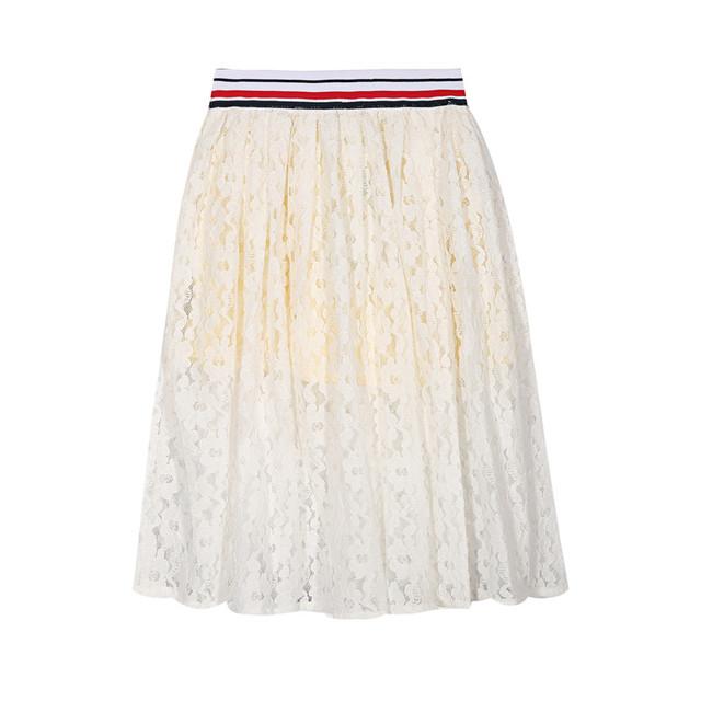 Top Quality meninas do Verão plissada saias brancas bonito estilo fofo Rendas macio meninas saias para meninas roupas skrits 3-14y para meninas