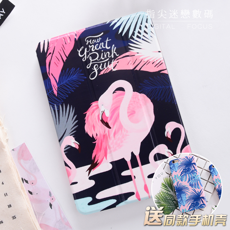 Flamingo Mini4 Mini2 Mini3 Flip Cover For iPad Pro 9.7 Air Air2 Mini 1 2 3 4 Tablet Case Protective Shell for ipad 2017 A1822 cartoon mini4 mini2 mini3 flip cover for ipad pro10 5 9 72017 air air2 mini 1 2 3 4 tablet case protective shell 10 5 9 7