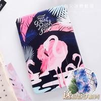 Cartoon Flamingo Painted Mini4 Mini2 Mini3 Flip Cover For IPad Pro 9 7 Air Air2 Mini