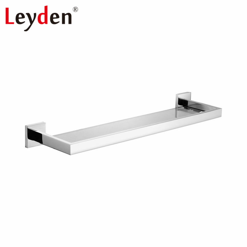 Leyden High Quality Glass Square Shelf Stainless Steel Wall Mount ...