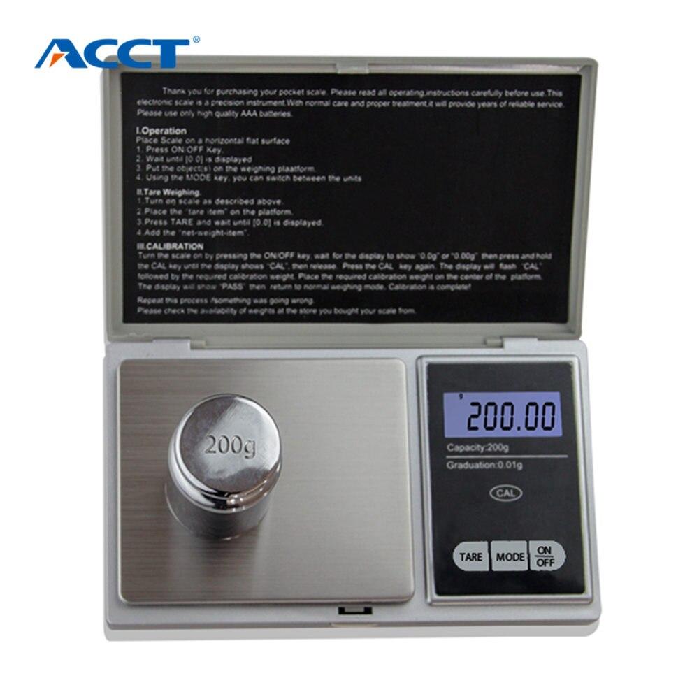 200g x 0.01g Digital Pocket Scale Libra Mini Laboratory Balance Tea Jewelry Scale 0.01g Calibration Electronic Weighing Machine