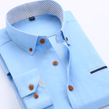Men Dress Shirts 2016 New Spring Formal Solid Color Slim Fit Long Sleeve Brand Business Fashion Shirts Tommy