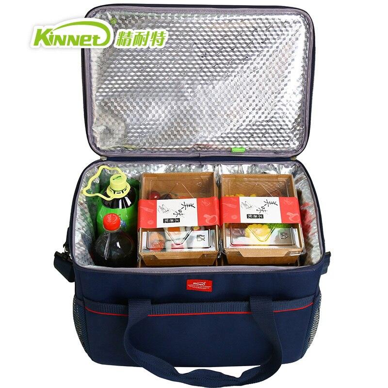 KinNet picnic cooler bag 33L large capacity thermal lunch bags ICE handbag bag refrigerator of car