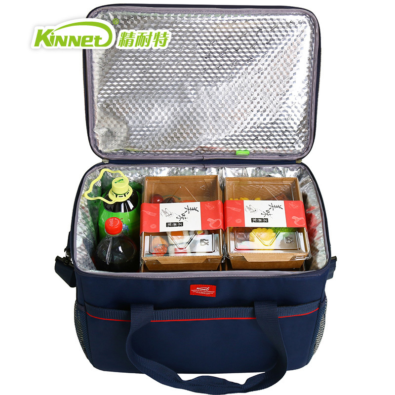 Kinnet Picnic Cooler Bag 33L Large Capacity Square Thermal Lunch Bags Handbag Ba Camping & Outdoor