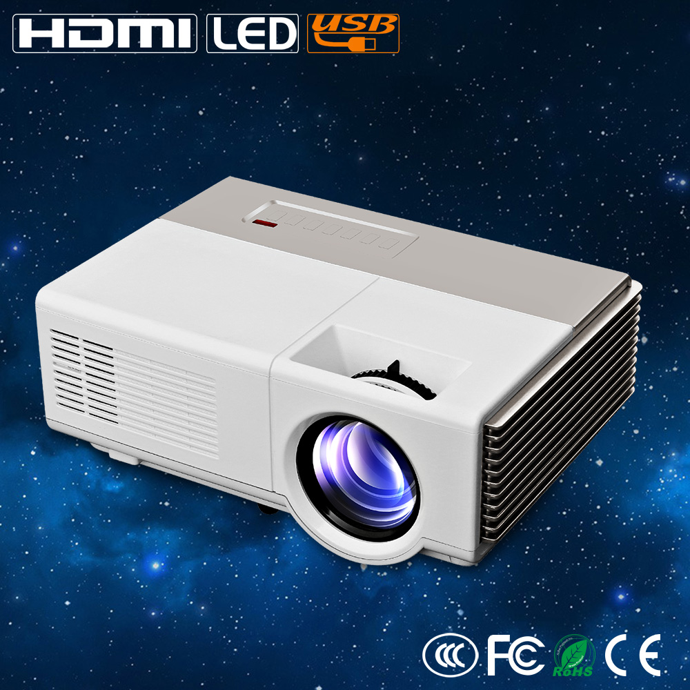 Fuleadture Portable Led Projector 1080p Hd Multimedia: CAIWEI HD Led Projector 1080p Support Mini Projector TV