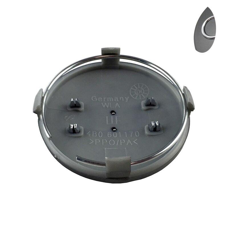 4pcs 60mm gray black car Wheel Center Cap Hub Caps Car Rims Cover Badge Emblem for Audi for A3 A4 A6 A8 4B0601170,4B0 601 170