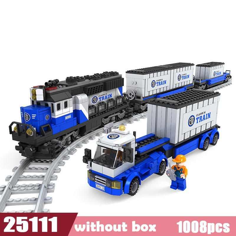Nouvelle série de villes Trains ferroviaires blocs de construction assemblage blocs jouet enfants noël modèle briques jouets cadeau Compatible lego