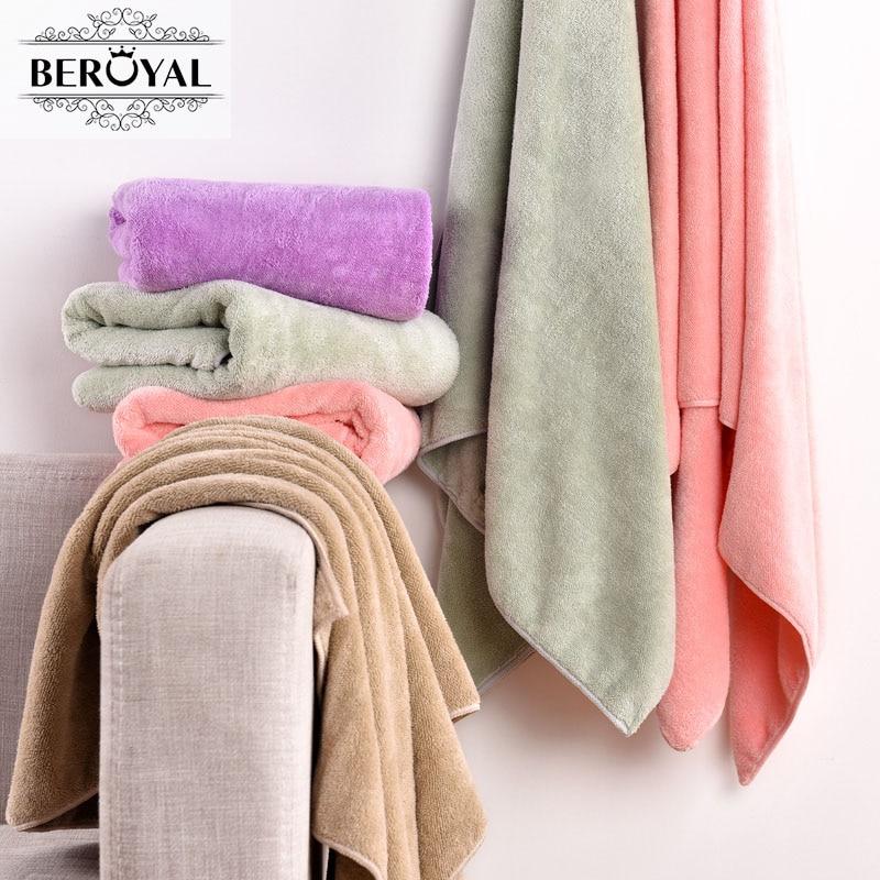 Wholesale/Bulk 2PCS/lot 70*140cm Plush bath towel Microfiber Bath Towels magic towels Spa&Sauna Swimming Towel Free shipping