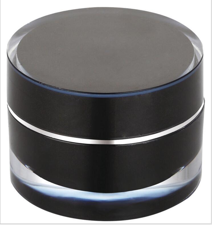 5g black jar Silver line ACRYLIC cylinder shape cream jar