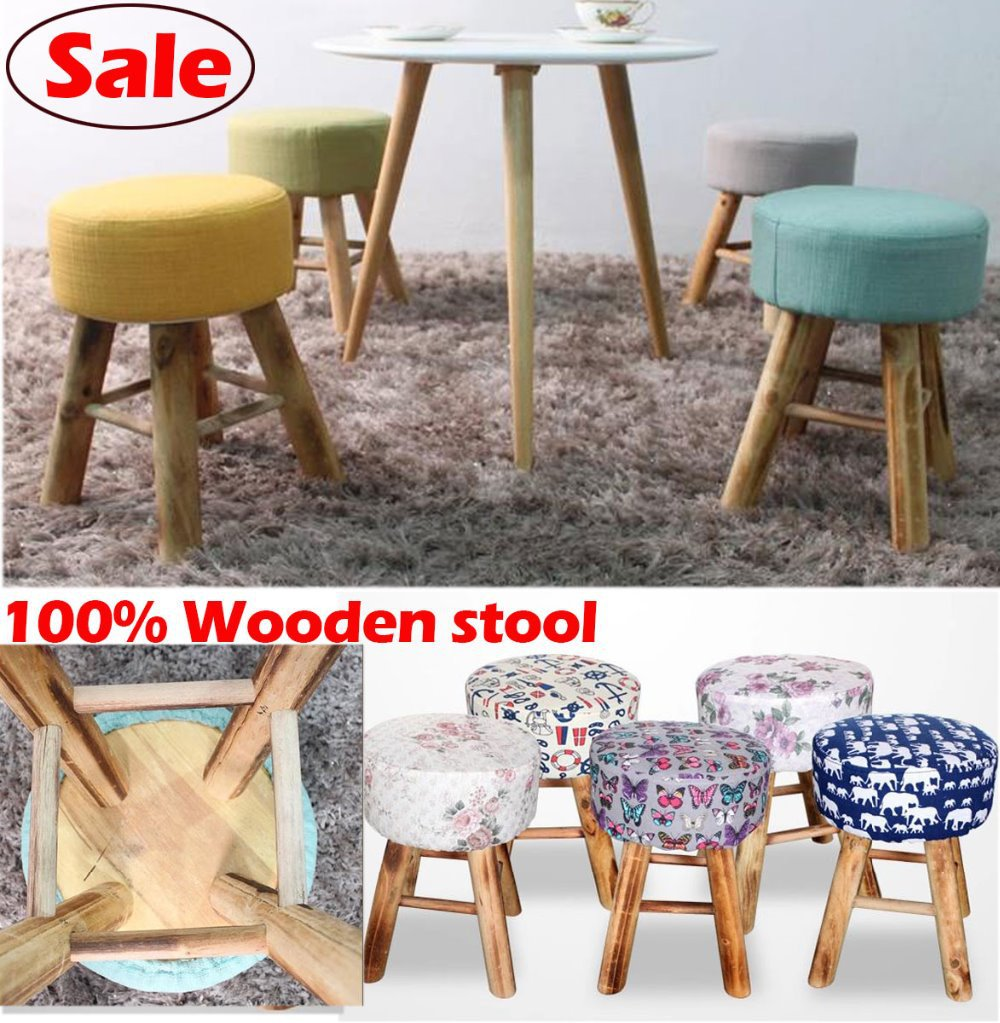 Wholesale!100% Wood bar stool,cotton+wooden furniture waiting stool,Salon chair,dresser stool,bathroom stool 30 styles vintage metal bar chair bar chair lift 100% wooden bar chair the pulley of the bar chair wood stool metal furniture